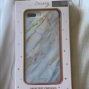 Casery iPhone 6plus, 7 plus or 8 plus marble case